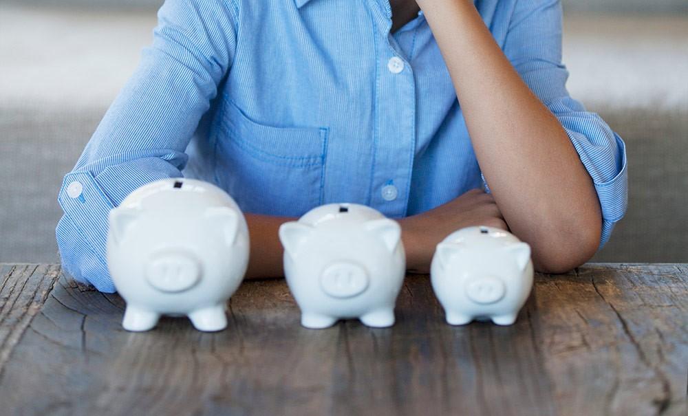 Tre spagrisar: Allmän pension, tjänstepension och att spara privat.