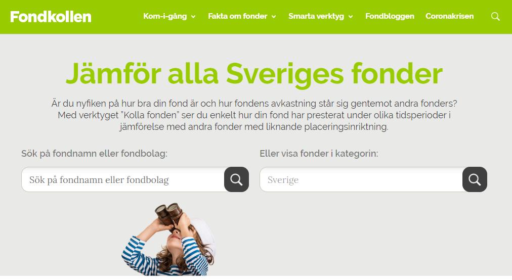 På Fondkollen.se kan du jämföra Sveriges alla fonder.