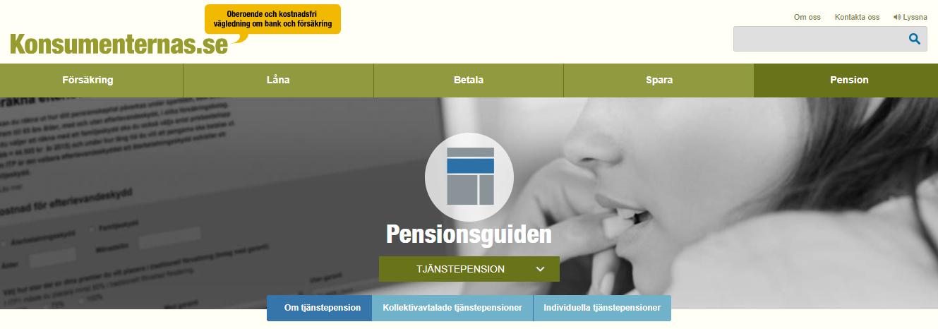 På Konsumenternas.se finns massor av bra information om pension och försäkringar